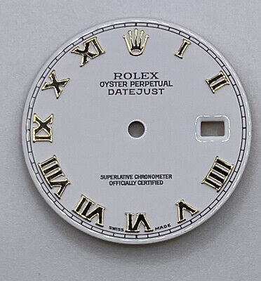 $ CDN374.49 • Buy Rolex Datejust 36mm White Dial With Gold Roman Numerals 116200, 116234 Parts!