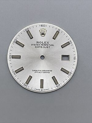 $ CDN374.49 • Buy GENUINE FACTORY Rolex Dial Silver For 41mm Datejust  #126300