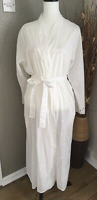 AU22.42 • Buy Cyberjammies White Cotton Broiderie Anglaise Dressing Gown Lightweight Size 18
