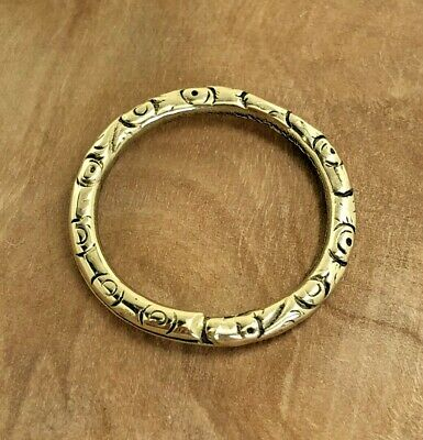 £100 • Buy GEORGIAN 9ct GOLD CASED SPLIT RING ANTIQUE COLLECTABLE 1820S JEWELLERY EMBOSSED