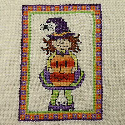 £12.98 • Buy Completed Finished  Little Witch  Halloween Cross Stitch Piece