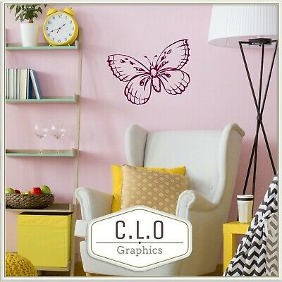 £8.99 • Buy Butterfly Vinyl Wall Sticker Art Transfer Pretty Large Decor Decal Graphic Mural