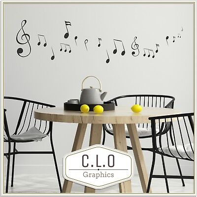 £9.99 • Buy Music Notes Wall Sticker Transfer Vinyl Decal Home Decor Giant Art Graphic Mural