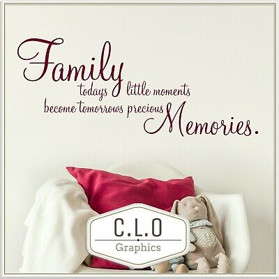£7.99 • Buy Family Moments Quote Wall Sticker Vinyl Art Transfer Decor Memories Decal Mural