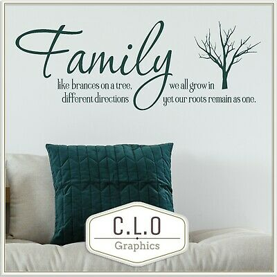 £7.99 • Buy Quote Wall Sticker Vinyl Art Transfer Decor Family Are Like Branches Decal Mural