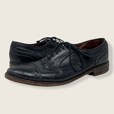 $0.99 • Buy Allen Edmonds Made In USA Black Leather 6115 Strand Perforated Shoes Size 12