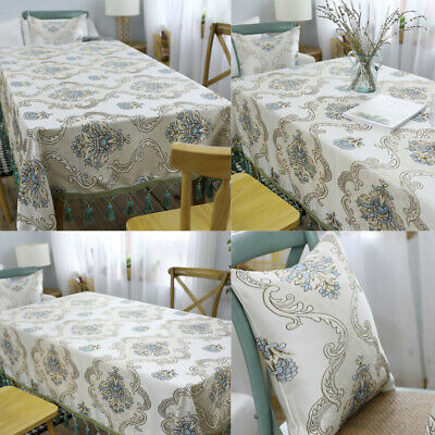 AU17.24 • Buy Retro Tassel Print Tablecloth Dining Kitchen Rectangle Table Cloth Cover Dinner