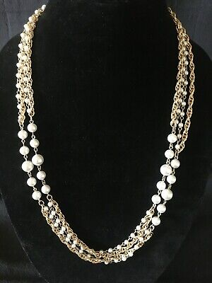 $6.99 • Buy Vintage Sarah Coventry Extra Long Necklace ~  Instant Fashion  ~ 1968