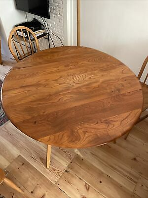£237 • Buy Ercol Drop Leaf Dining Table In Solid Elm And Beech