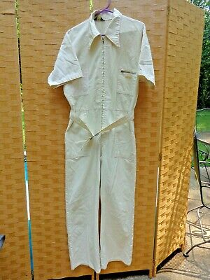 $29.95 • Buy Vintage Wrangler Tan Mechanics Coveralls Jumpsuit Size 42 Summer Made In USA
