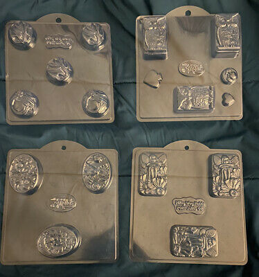 $20 • Buy Milky Way Molds LOT OF SOAP MOLDS Floral Flowers Faerie And Owls 4 Molds