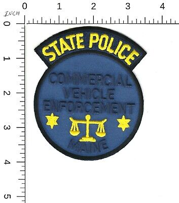 $8.99 • Buy Maine State Police Commercial Vehicle Enforcement Shoulder Patch Me