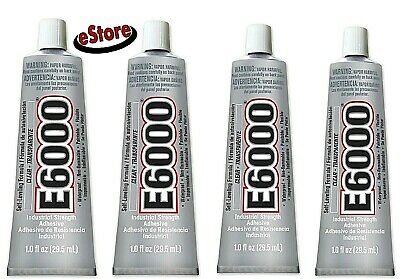 £14.51 • Buy E6000 Clear Industrial Strength Glue Adhesive 1 Oz Wood Glass  Plastics Lot Of 4