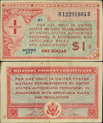 $3.25 • Buy 1947 Series 471 $1 Military Payment Certificate