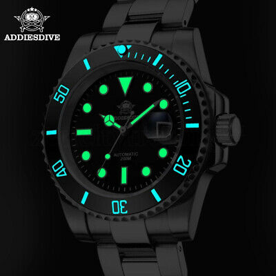 $ CDN0.01 • Buy NH35 Dive Luxury Water Ghost Sapphire Crystal Men Automatic Mechanical Watch