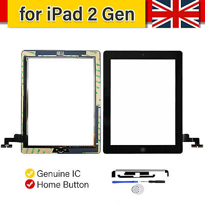 £9.99 • Buy For IPad 2 A1395 A1396 A1397 Touch Screen Digitizer Glass Replacement Black & IC