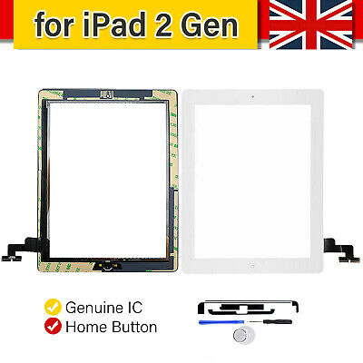 £9.99 • Buy For IPad 2 A1395 A1396 A1397 Touch Screen Digitizer Glass Replacement White & IC