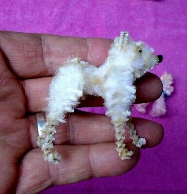 $ CDN81.83 • Buy Vintage Japan Chenille Animal Figurines In Box Christmas ? PINK POODLE Dog 8 Pcs