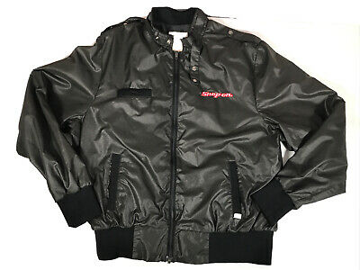 $ CDN57.54 • Buy Vintage Snap On Made In Canada Black Racing Bomber Jacket Mens Size XL VGC