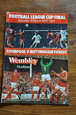 £0.99 • Buy Football Programme League Cup Final. Liverpool V Notts Forest 1978