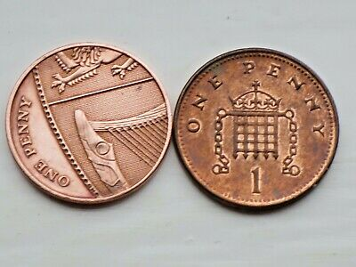 £1.49 • Buy  RARE 2008 Last 1P PORTCULLIS & CHAINS +1P Shield Section ONE Penny Coins