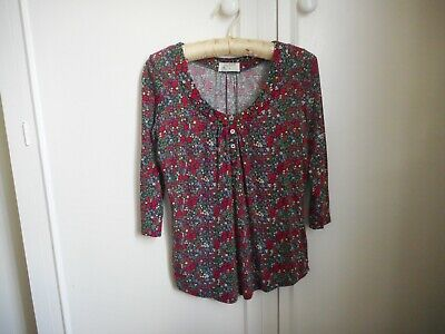 £5 • Buy Braintree Women's Floral Tunic Top, Size 8, Bamboo & Organic Cotton, 3/4 Sleeve