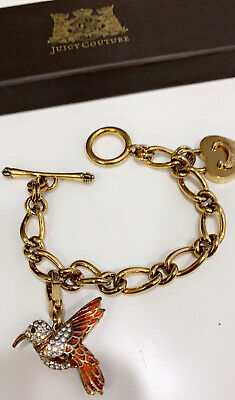 £35 • Buy Juicy Couture Gold Charm Bracelet With Bird Charm