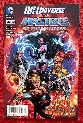 $12 • Buy DC Universe Versus Masters Of The Universe #4, 2014; He-Man, Zatanna Cover!