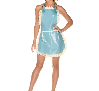 £23.84 • Buy The New Latex Rubber Gummi Dress Catsuit Kitchen Cosplay Fashion Party Skirt