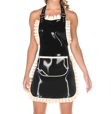 £26.20 • Buy The New Latex Rubber Gummi Dress Catsuit Cosplay Club Casual Party Kitchen Skirt