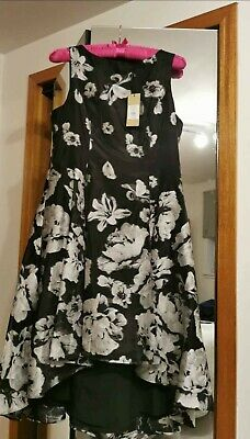 £13 • Buy Black And Silver Coast Dress Size 18
