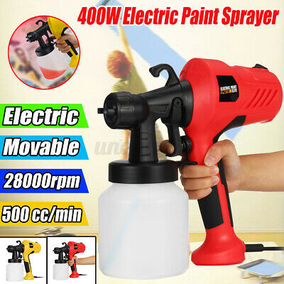 £34.87 • Buy Electric Spray Paint With Flow Control Sprayer Gun Compressor For Car Wood Wall