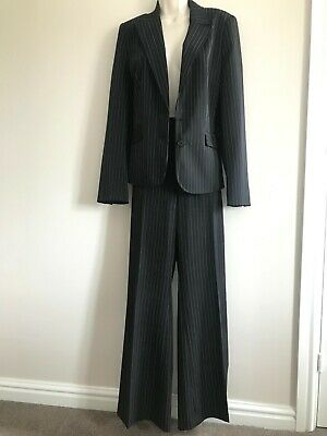£9.99 • Buy Ladies Black Pinstripe Trouser Suit Size 14. Used, Good Condition.