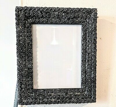 £16.99 • Buy New Hand Embellished Black + Brushed Pewter Spiders Photo Picture Frame 9 X 7