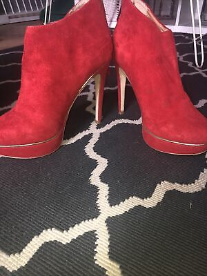£9.20 • Buy Oasis Red Platform Boots Size 6 Used