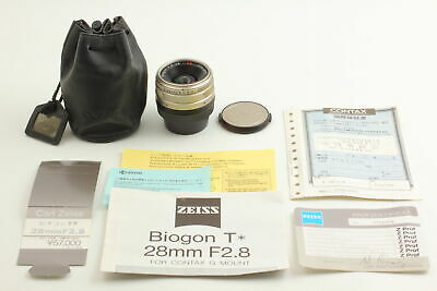 $ CDN348.50 • Buy [Exc+3] Contax Carl Zeiss Biogon T* 28mm F2.8 G Wide Angle Lens G1 G2 From Japan