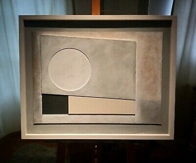£428 • Buy Ben Nicholson Style Modern British Abstract Relief By Richard Witham