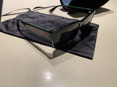 AU250 • Buy Gucci Mens Sunglasses Model Gg03400s 006 Black With Red/green Legs