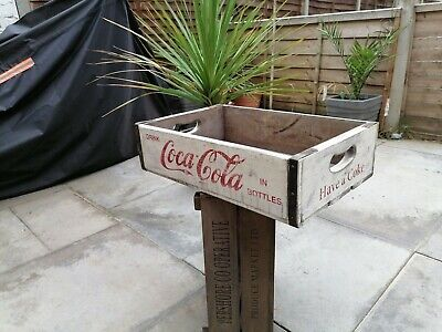 £15 • Buy Vintage Style Wooden Coca Cola Crate Tray Wooden Box Shelf