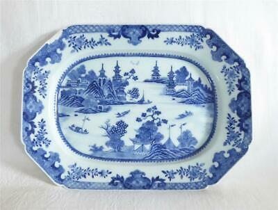 £9.99 • Buy Antique Mid 18th Century Chinese Blue And White Nanking Porcelain Meat Plate
