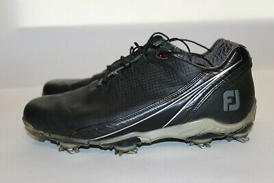 $39.95 • Buy FootJoy DryJoys DNA Golf Shoes Black Leather Mens 53385 Size 8.5 Wide W