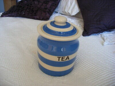 £19.99 • Buy A Cornishware Blue And White Tea Cannister Pot   22m