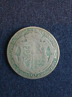 £11 • Buy 1920 George V Half Crown Silver (.500) Coin Uncleaned Good With Some Rubbing