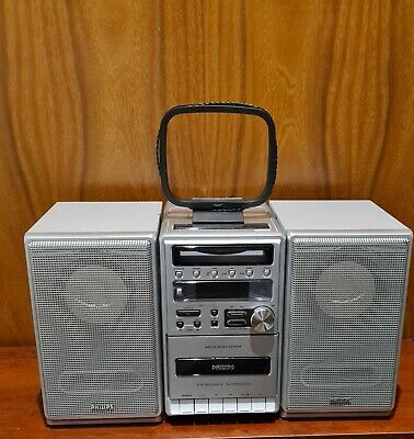 £39 • Buy Philips MC-120 Silver Micro System. Mini Hi-fi. Radio With Aerial Included