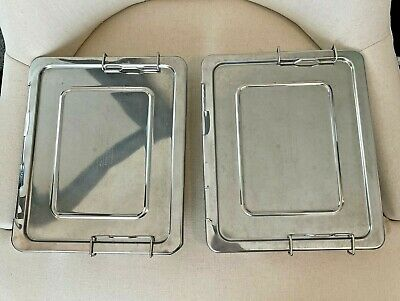 $32.99 • Buy Pottery Barn Kids Bento Boxes Lot Of 2 Lunch Stainless Steel 5 Compartments Bins