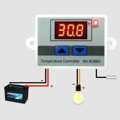 £9.65 • Buy Digital LED Temperature Controller Thermostat Control Switch & Probe 12/24/220V