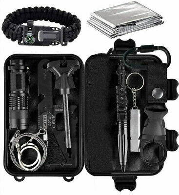 $29.50 • Buy Outdoor Military Survival Kit Camping EDC Emergency Tactical Gear First Aid Tool