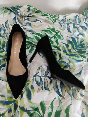 £5 • Buy Black High Heel Court Shoes UK Size 7 Cushioned Sole