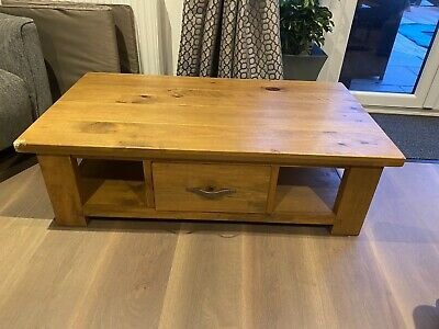 £2.74 • Buy Solid Oak Coffee Table With Drawers From Next
