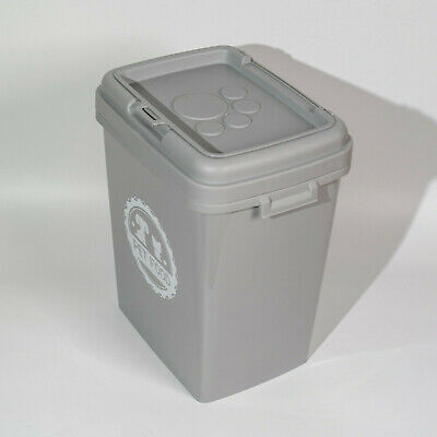 £22.95 • Buy Grey 40 L Pet Food Dry Feed Container Animal Dog Cat Storage Box Bin With Scoop